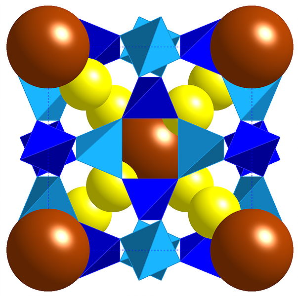 Sodium Bromide in sodalite cages. From       'Defining the Flexibility Window in Ordered Aluminosilicate Zeolites'.       Published in Royal Society Open Science.